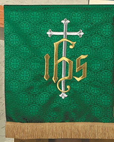R.J. Toomey Green Polyester IHS Embroidered Pulpit Scarf,...