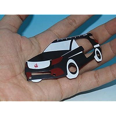3 pc / pack automobile forme 5 fonctions saber carte avec fourreau de cuir randonnée et camping de matériaux en acier inoxydable des outils de survie