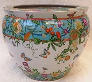 Butterfly chinese porcelain fish bowl 20 for Fish bowl amazon