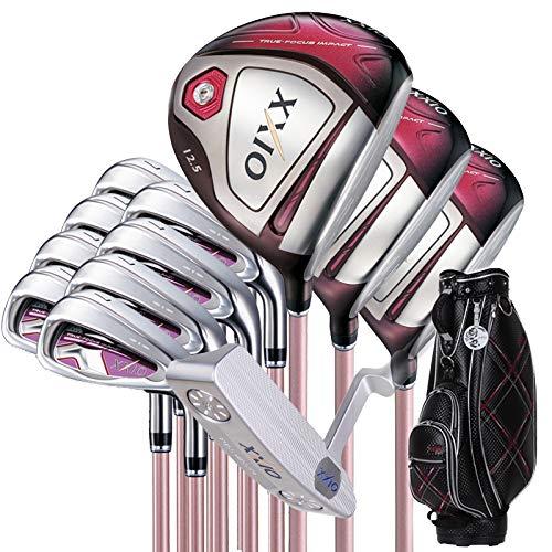 XXIOxxioゴルフクラブレディースゴルフ一式新しいロッドMP1000ボルドー赤セットポールを設定します B07RZCL434