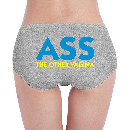 PCY Geek Women's Low-Waist Stretch Ass The Other Vagina Bikinis Panty Ash XL