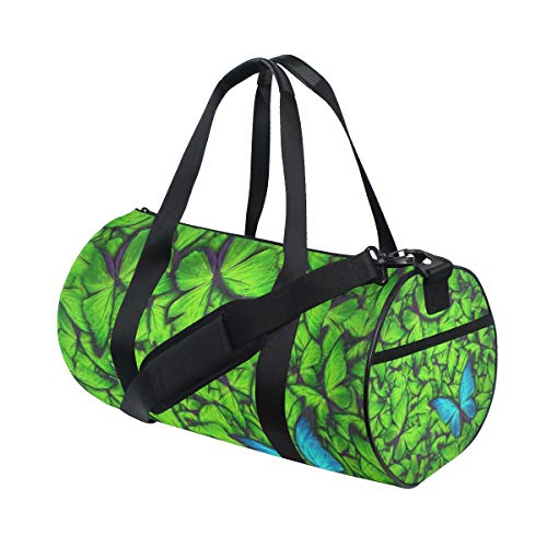 Butterfly Studded Tote - SLHFPX Gym Bag Beautiful Butterfly Isolated Women Yoga Canvas Duffel Bag Tennis racket Tote Bags