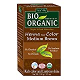 Indus Valley BIO Organic Chemical Free Natural Medium Brown Henna Hair Color For Grey Coverage Hair
