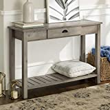 WE Furniture AZF48CYETGW Country Style Entry Console Table, 48″, Gray Wash For Sale