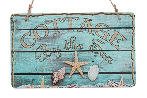 Sea Cottage (Cottage By The Sea Rustic Sign With Starfish Decor Sign (10