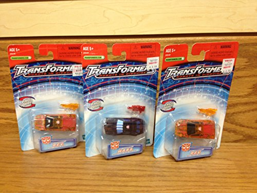 LOT OF 3! 2002 Transformers SPY CHANGERS R.E.V. x 2 AND W.A.R.S. Vehicle/Robot ()
