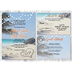 Beach Wedding Invitations Destination Wedding Invitation of 30