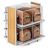 Cal-Mil 1279 Eco Modern Bread Case, 14'' Width x 11.5'' Diameter x 15'' Height, Silver