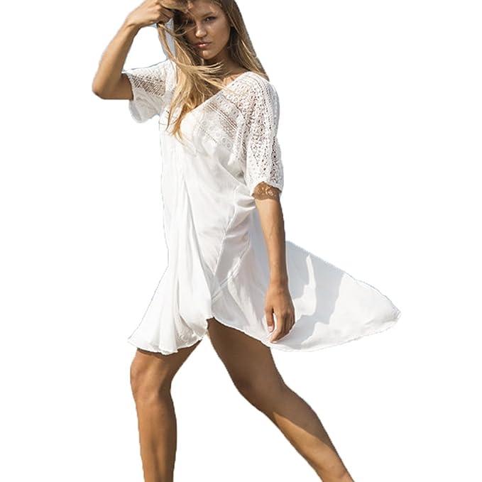 5ab6628fad Longra® Women Sexy Lace Bathing Suit Bikini Swimwear Beach Cover-up ❤ V