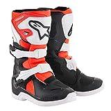 Alpinestars Youth Tech 3S Kids Boots-Black/White/Red Flo-K12