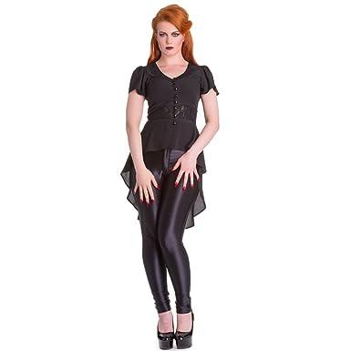 cf6c70f87c6cd Hell Bunny Ayla Blouse. Moongazer Gothic Flowing Shirt Jacket   Amazon.co.uk  Clothing