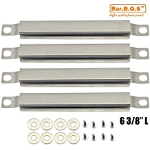 """Bar.b.q.s Universal Gas Grill Burner Heat Plate Crossover Tube Replacement for GasBar.b.q.s Replacement 05592(4-pack 6 3/8"""") Stainless Steel Cross Over Burner for Select Gas Grill Charbroil, Kenmore and Others"""