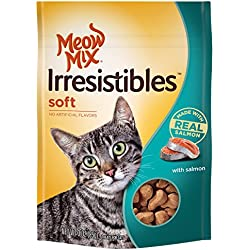 Meow Mix Irresistibles Soft Cat Treats with Real Salmon, 3 oz