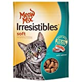 Meow Mix Irresistibles Soft Cat Treats with Real Salmon, 3 oz For Sale