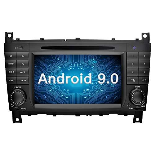 Ohok 2 DIN Autoradio 7 Pulgadas Android 9.0 Oreo Octa Core 4GB Ram 32GB ROM Reproductor DVD//GPS Navegador Soporta Bluetooth AV-IN para Mercedes-Benz