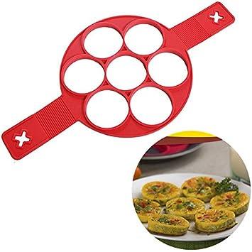 Pancake molde de silicona moldes para lavavajillas, huevo frito molde huevo anillo molde para huevos fritos: Amazon.es: Hogar