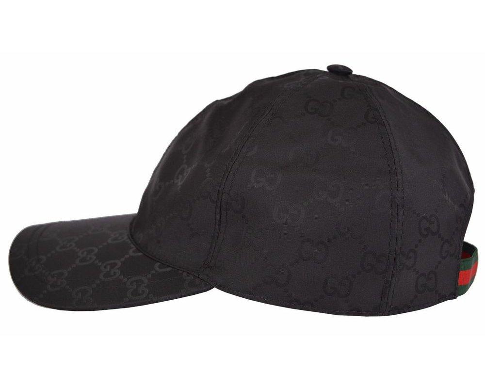 Gucci GG Guccissima Nylon Baseball Cap, Black 387578 (Small )