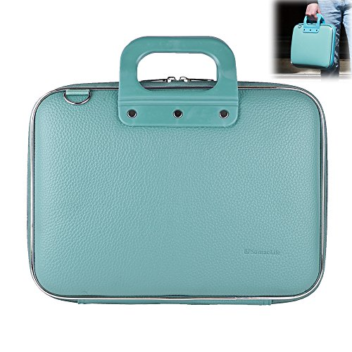 15.6-Inch Laptop and Tablet Bag Water Resistant Briefcase Business Office Bag for Men Women, Stylish Leather Multi-Functional Shoulder Messenger Bag for Notebook MacBook Asus Acer HP Dell Lenovo