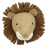 Ebros Fiona Walker England Handmade Organic Baby Animal Head Wall Decor Mini Safari Farmland Collection (Mini Lion)