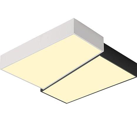 Moderno Cuadrado Lámpara de Techo Diseño Blanco y Negro LED ...
