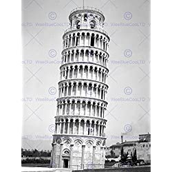 VINTAGE PHOTO ARCHITECTURAL LEANING TOWER PISA ITALY COOL PRINT POSTER BB10173