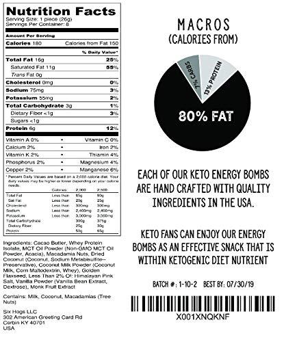 Nuggets Keto: Keto Squared Snack Fat Bombs (16-Pack, Macadamia Crème