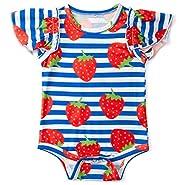 Goodstoworld Baby Girls Boys Ruffle Romper Short Sleeve Cute Jumpsuit (0-24 Months)