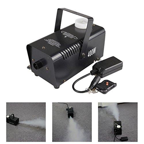Mini Portable Remote 400W Fog Machine Home Party Show Smoke Fogger Stage Equipment W400 (NO LED)