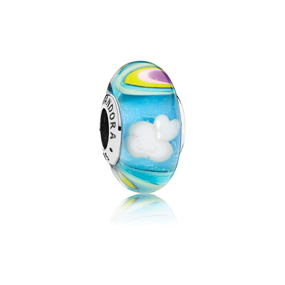 PANDORA Iridescent Rainbow Glass Charm, 797013
