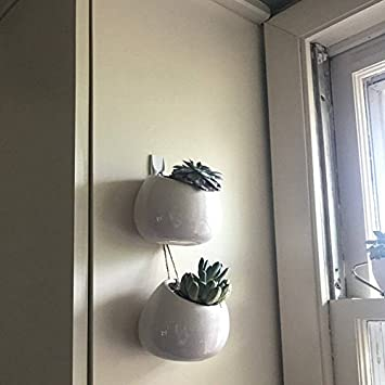 Amazon Newdreamworlds Pack Of 2pcs White Ceramic Wall Vases