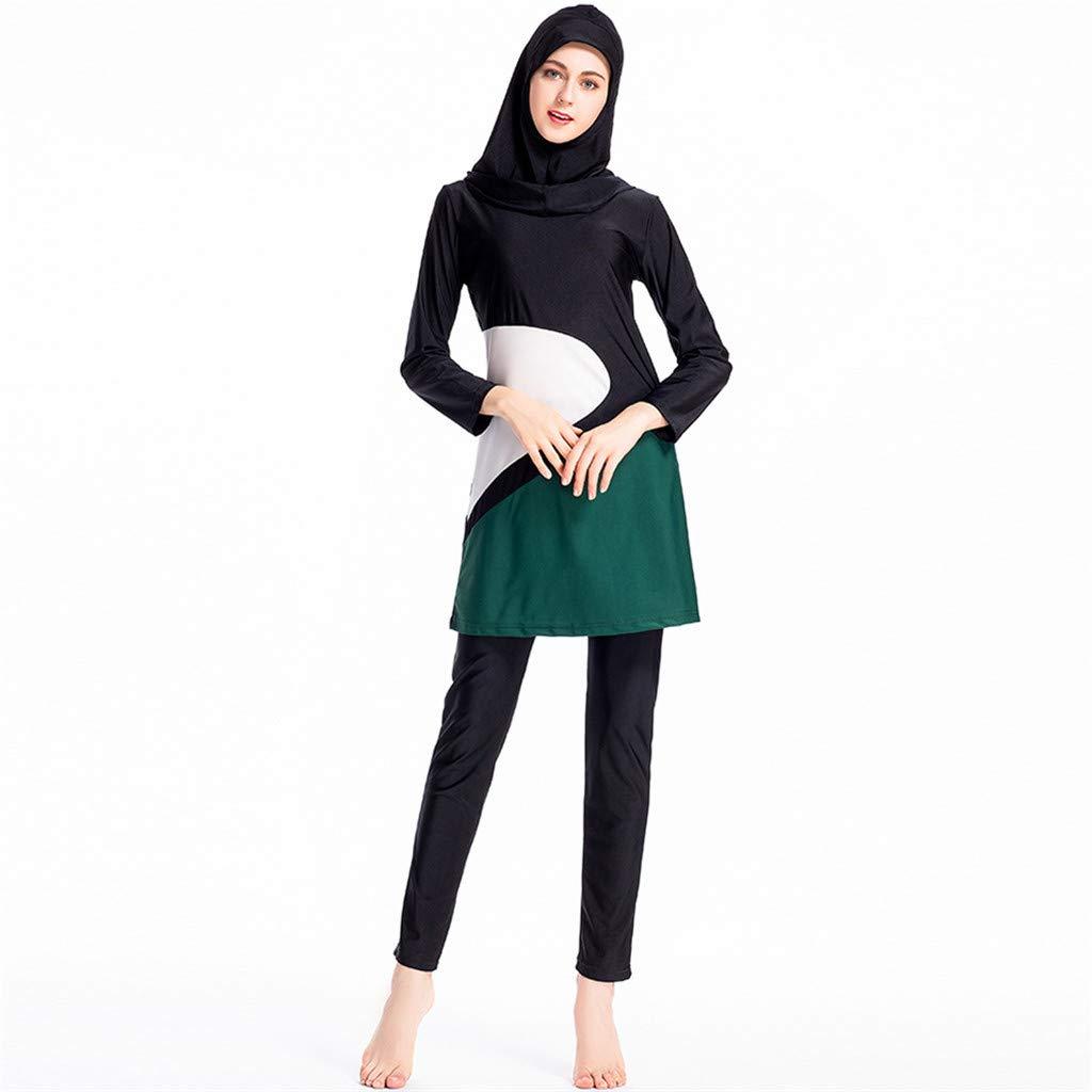 98244caf7a7b9 Amazon.com: Saymi Women's Islamic Swimsuit Hijab Swimwear Full Coverage Modest  Muslim Bathing Suit with Cap: Clothing