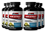 Anti stress supplement - NONI EXTRACT 500mg - Wellness capsules - 6 Bottles 360 Capsules