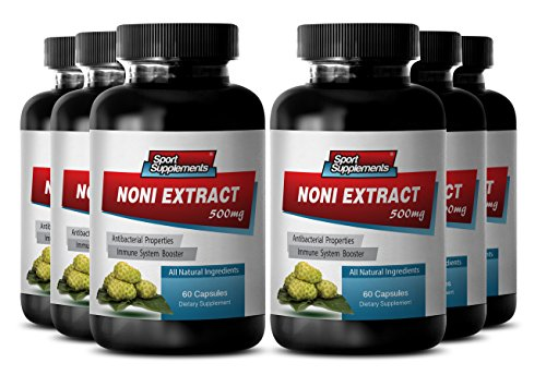 Nunaakai - NONI EXTRACT 500mg - Stress relief - 6 Bottles 360 Capsules by Sport Supplements (Image #7)