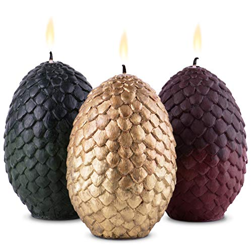 Game of Thrones Dragon Egg Candles Decorative Candles Dragon Egg for Any GOT Fans Set of 3