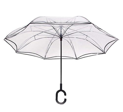 Paraguas invertido, Doble Capa de protección UV a Prueba de Viento UV Paraguas invertido invertido