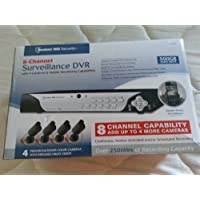 Bunker Hill Security 8-Channel Surveillance DVR With 4 Cameras and Mobile Monitoring Capabilities