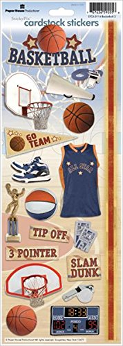 - Paper House Productions STCX-0114E Sports Cardstock Stickers, Basketball 2 (6-Pack)