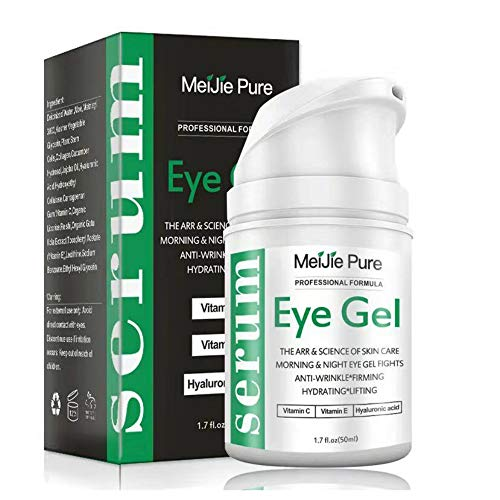 Eye Gel,Under Eye Cream,2019 Anti-Aging Eye Gel for Wrinkles,Fine Lines,Dark Circles,Puffiness,Bags,Eye Moisturizer for Men & Women - 1.7 fl oz. (Best Anti Aging Eye Serum 2019)