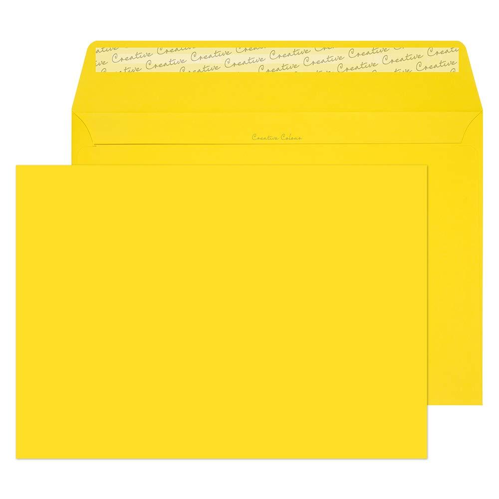 Blake Creative Color,  Bright Orange Invitation Envelopes, 9 x 12 3/4 Inches, Pumpkin Orange, 80lb Paper, Peel & Seal  (405-76) - Pack of 250