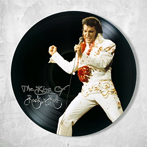Elvis Presley Decor Vinyl - Unique Wall Art Decor Elvis Presley the king of rock 'n' roll - Best Gift for Music Lover - Original Wall Home Decor]()