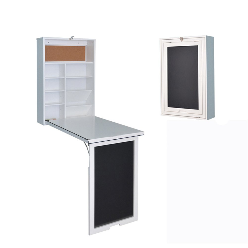 ZZHF 折りたたみテーブル/折りたたみコンピュータテーブル/壁掛け折りたたみテーブル/ホーム多機能折りたたみテーブル デスク   B07C1TZB1T