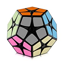 D-FantiX Shengshou 2x2 Megaminx Speed Cube Smooth Pentagonal Dodecahedron Puzzles Cube Black