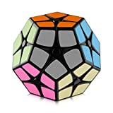 D-FantiX Shengshou 2x2 Megaminx Speed Cube Smooth Pentagonal Dodecahedron Puzzles Cube Black with Cube Stand