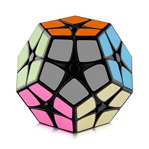D-FantiX Shengshou 2x2 Megaminx Speed Cube Dodecahedron Puzzle Cubes Black (Black)
