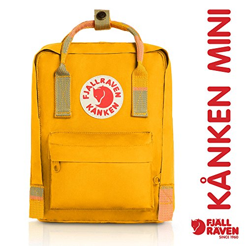 Fjallraven - Kanken-Mini Classic Pack, Heritage and Responsibility Since 1960, Warm Yellow-Random Blocked