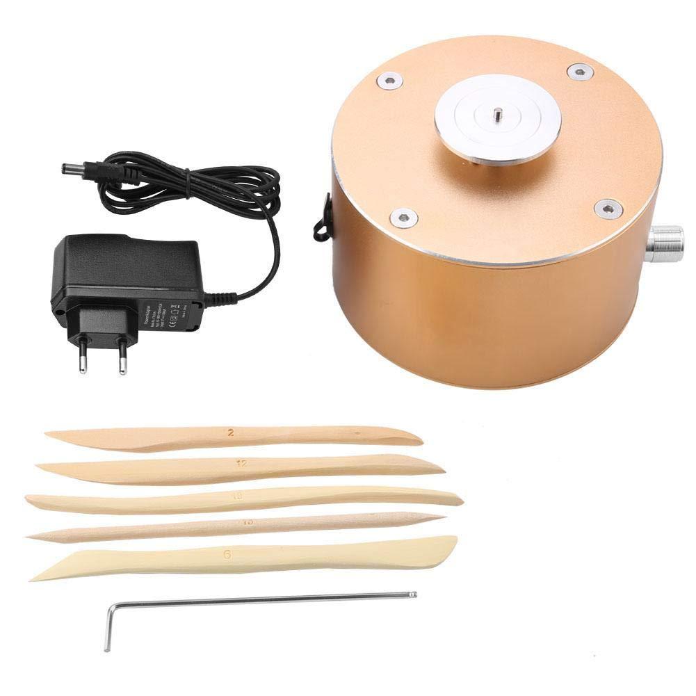 Akozon Mini Clay Making Pottery Machine 12V DIY Craft 100-240V Ceramic Pottery Wheel Pottery Wheel Clay Machine Ceramic Machine Turntable Diameter 4.5cm(US Plug)