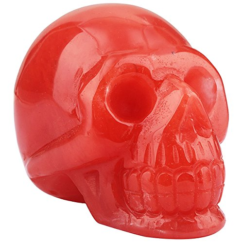Used, rockcloud Healing Crystal Stone Human Reiki Skull Figurine for sale  Delivered anywhere in USA