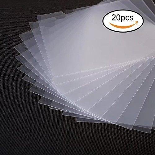 Project Folder Letter (20 Pack Clear Document Folder Copy Safe Project Pocket US letter/ A4 Size in Transparent Color)