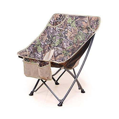 (Tingting-Folding stools, Collapsible Chair Outdoor Portable Armchair Butterfly Foldable Seat Fishing Barbecue Beach Fold Up Stool Camping Moon (Color : Brown, Size : 5073CM))