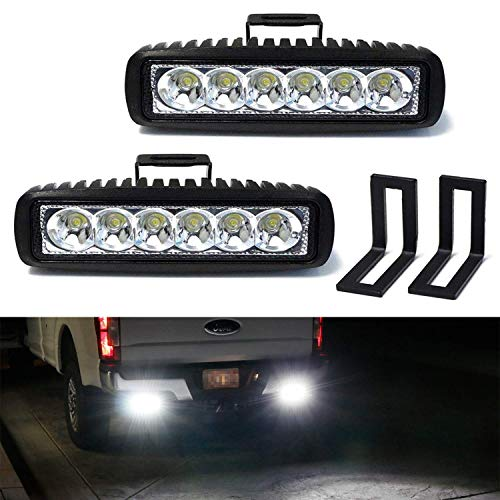 Ijdmtoy Under Bumper Led Reverse Light Bar Kit For 2015 Up Ford F150 17 Up Raptor Includes 2 9w High Power Led Light Bars Under Bumper Bolt On Mounting Brackets